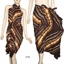 100% Cotton Tie & Dyed Beach Scarf Sarong Wrap Pareo Bikini Cover Up Dress 4507