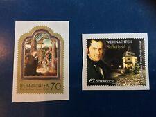 Austria 2013 Weihnachten Self Adhesive Mnh Scott#2478-79 Nice Stamps Fv 1.5€
