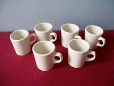 6 BUFFALO CHINA RESTAURANT WARE COFFEE MUGS / CUPS UNDECORATED