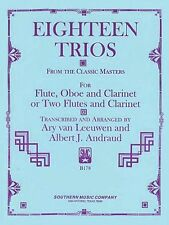 18 Trios Complete from Classic Master Woodwind Trio NEW 003770265