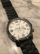 Fossil Watch/ Men's Stainless Steel With Silicon Band