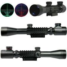 3-9x40 EG Optical Rifle Scope Red Green illuminated Reticle 20/11mm Rail Mount