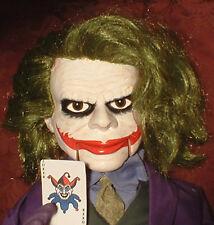"Haunted Ventriloquist Doll ""EYES FOLLOW YOU"" Dummy Dark Joker Knight Puppet"