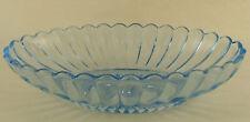 Imperial Glass Pillar Flute 682 Blue Glow Oval Bowl