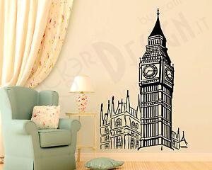 Adesivi Murali Big Ben Londra  Wall Stickers Sticker Adesivo Murale  Clock Tower