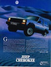 PUBLICITE   1983   RENAULT   JEEP CHEROKEE