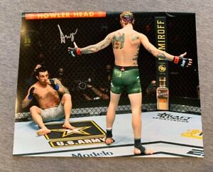 """UFC FIGHTER- """"SUGAR"""" SEAN O'MALLEY AUTOGRAPH 8x10 ACTION PHOTO #2 SIGNED AUTO"""