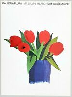 """Tom WESSELMANN - """"Tulips in a vase"""", 1982 - Poster, 68,6 x 50,8 cm"""
