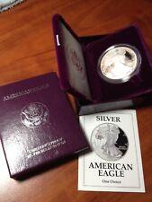 1993 PROOF AMERICAN SILVER EAGLE COIN - BOX & COA - DEEP CAMEO