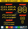 Adesivi stickers GILERA RUNNER kit 11 Pezzi - moto motorbike Cod.0559
