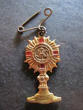 Medalla alfiler religioso SANTO CALIZ JHS  medal religious