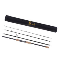 Carbon Fiber Spinning Fishing Rod 4 Sections Ultralight Travel Lure Rod Pole