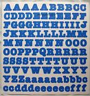 Creative Memories Large ABC/123 letter number stickers - Periwinkle Bold - Blue