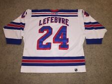 Sylvain Lefebvre New York Rangers CCM Sewn Authentic On Ice Jersey - Men s  56 09681ddf1