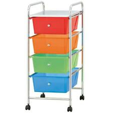 Home N Door 4 Drawers Storage Organised with Wheels - Multicoloured