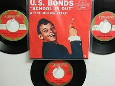 LOT OF 4 ' GARY (U.S.) BONDS  ' HIT 45's+1P(Copy)[School Is Out]   THE 60's!
