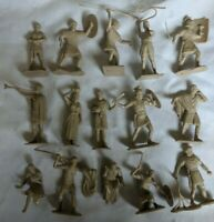 Marx Recast Ben Hur Playset Plastic 54mm Roman Gladiator Soldier x15 Figure Lot