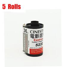 5 Rolls Kodak Eastman 5222 Double-X ISO250 35mm Cine 135-36EXP B&W Negative Film