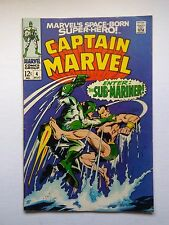 Captain Marvel #4 (Marvel 1968, first series) featuring the Sub-mariner