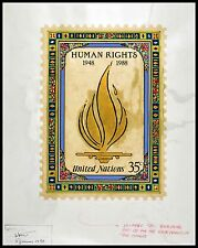 UN 1988 HUMAN RIGHTS ORIGINAL APPROVED ARTWORK ARTIST PROOFS #544 UNIQUE 6 ITEMS