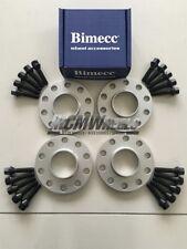 2x12mm + 2x15mm Silver Wheel Spacers Black Bolts - Seat Ibiza (2002 - Present)