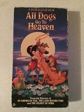 ALL DOGS GO TO HEAVEN, VHS, MGM/UA VIDEO , 1989/90
