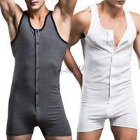 Sexy Men's One Piece Bodysuit Tie-up Underwear Brief Jumpsuit Sportwear Leotards