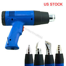 1500W Heat Gun Hot Air Gun Blower Dual Temperature + 4 Nozzles Power Heater