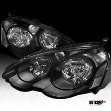 Fit 2002-2004 Acura RSX DC5 Black Clear JDM Headlights Driving Head Lamps Pair