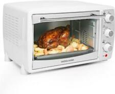 Cucina 28L White Mini Oven Grill Convection Electric 2 Hot Plates Hob Rotisserie