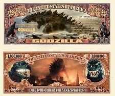 Godzilla Million Dollar Bill Collectible Fake Funny Money Novelty Note