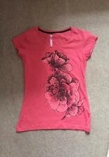 Cotton Boat Neck Floral Regular Size Tops & Shirts for Women