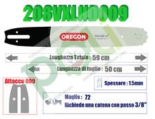 BARRA LAMA MOTOSEGA OREGON 208VXLHD009 SOSTITUISCE 208SLHD009 LUNGHEZZA 50CM