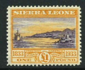1933 Sierra Leone £1 SG 180 Mint NH Cat £650