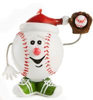 NEW Baseball Mitt Santa Claus Hat Sneakers Christmas Resin Ornament Holding Ball
