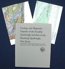 Usgs New Jersey Iron Mining Franklin Hamburg Vintage 1970 Report with All Maps!