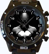 Negro Sombra Batman NUEVO SERIE GT deportivo unisex regalo reloj de pulsera