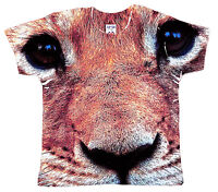 "DF Baby T-Shirt All Over Print ""Baby Lion Cub Head"" Zoo Wild Animal King Paws"