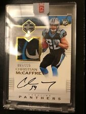 2017 Panini Limited Christian McCaffrey Rookie Patch Auto 065/225 Tri-Color
