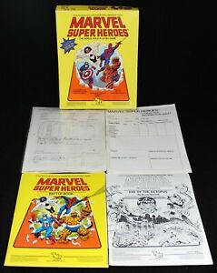 1984 TSR Marvel Super Heroes Heroic Role-Playing Game - Spider-Man - INCOMPLETE