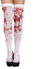 Ladies Sanguinoso Macchiato Calze Spettrali Zombie Halloween Costume Infermiera della scuola