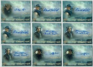 Aliens Movie 2018 Upper Deck Actor Reactor Inscription Autograph Card Selection
