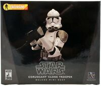 Star Wars Gentle Giant Deluxe Coruscant Clone Trooper Mini Bust