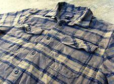 Patagonia Organic Cotton Flannel Shirt brown & gray Plaid Men's M