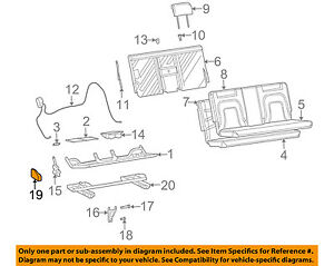 Buick GM OEM 02-03 Rendezvous Rear Seat-Latch Cover Right 88949693
