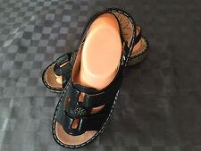 Rivers Ortho Fit Black Comfort Sandals Shoes Ladies Size 9, 40 EU Like New