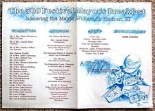 PLACEMAT ~ 1991 INDY 500 FESTIVAL MAYOR'S BREAKFAST