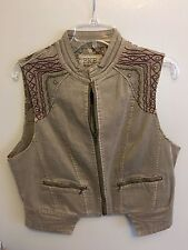 NWT Women's/Juniors BKE Outerwear Zippered Vest Gray Size Large
