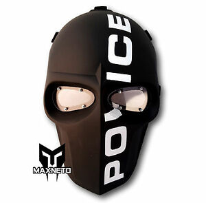 Airsoft Army of Two Paintball BB Gun Tactical Protect Helmet Goggles Mask POLICE