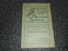 More details for swindon town  reserves  v  luton town  reserves  1947/8 combination  ~ nov 8th